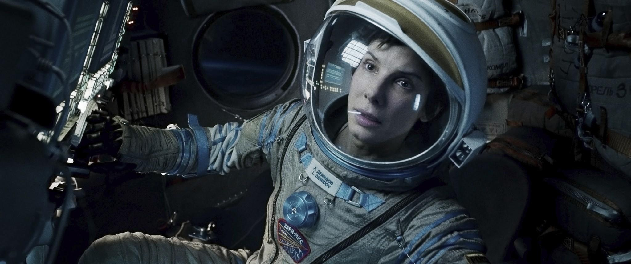"Sandra Bullock in ""Gravity,"" a Warner Bros. picture."