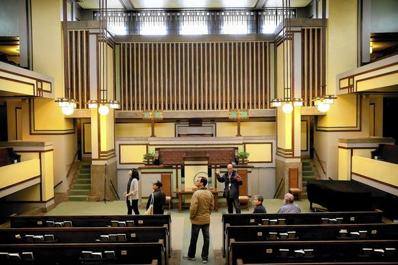 the architectural wonders inside the sanctuary of frank lloyd wright