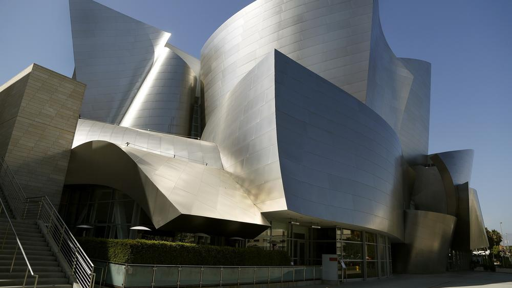 The exterior of Disney Hall is seen on Aug. 15, 2013.