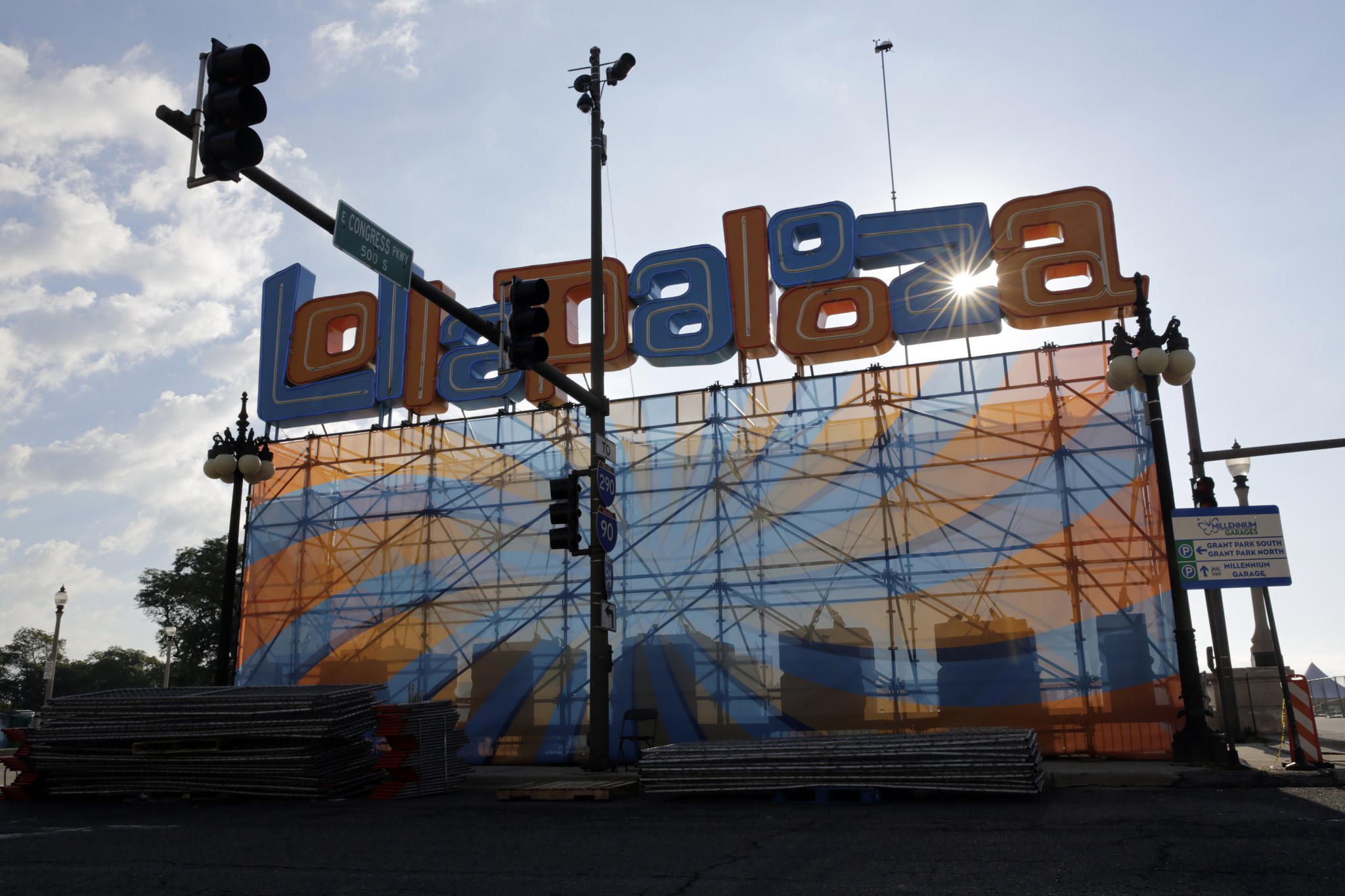 The Lollapalooza front gate.