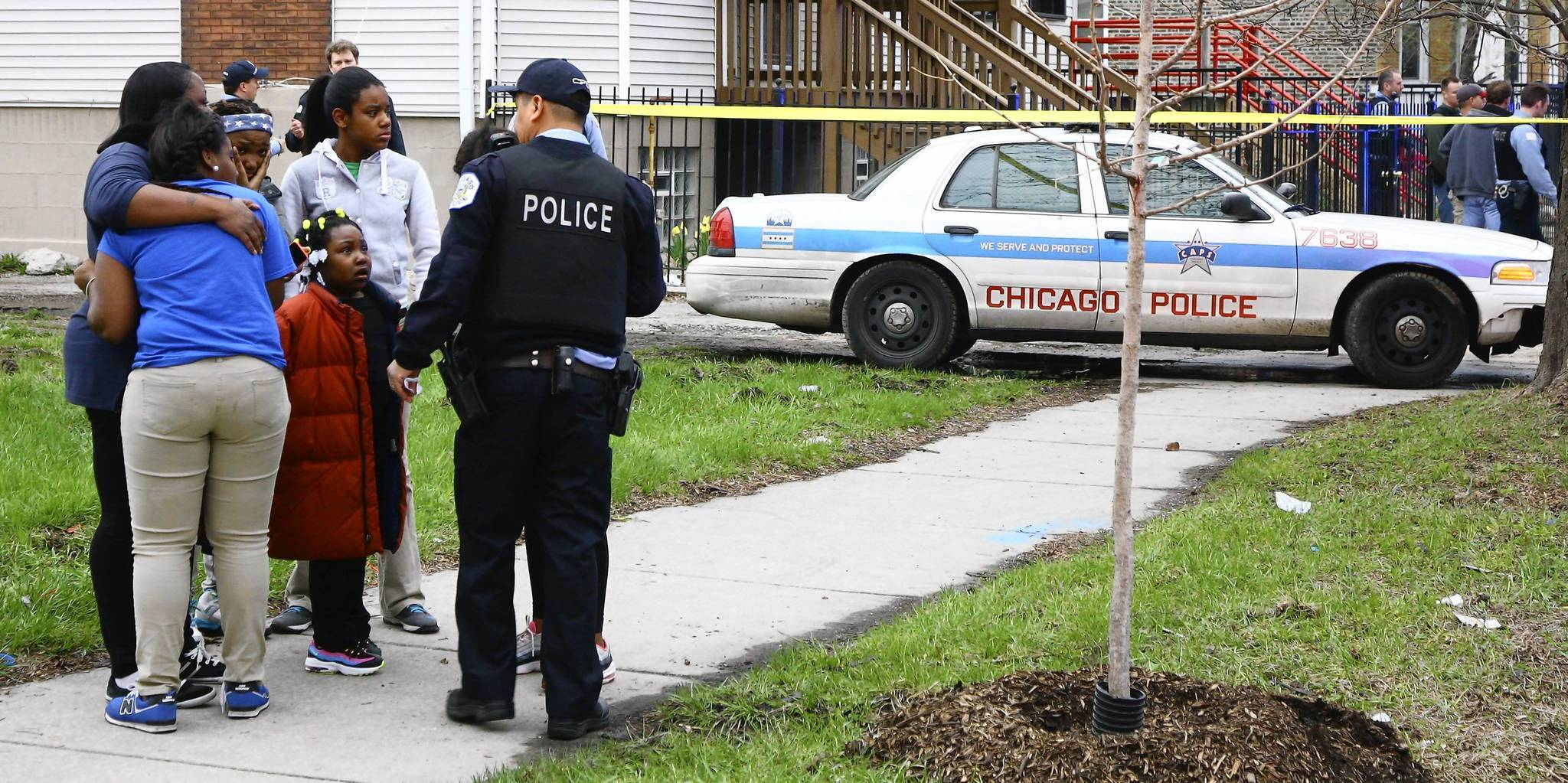 Chicago police investigate the shooting of 14-year-old Endia Martin at 55th Morgan Avenue.