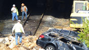 Charles Village landslide debris and car removal [Video]