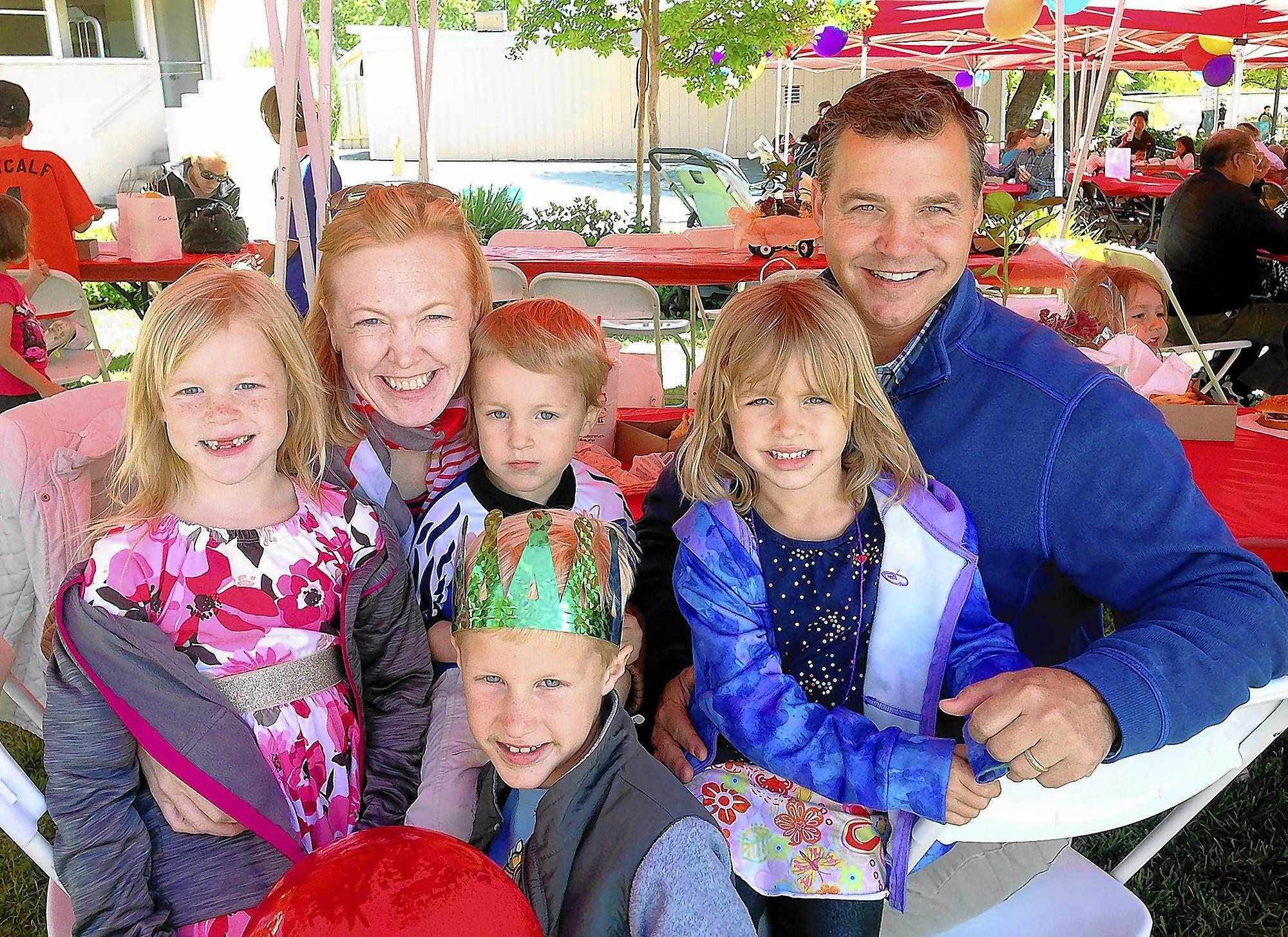 Bryan, Courtney Thomas and family enjoy their sixth year at St. George's Dragon Faire, held on Saturday, April 26.
