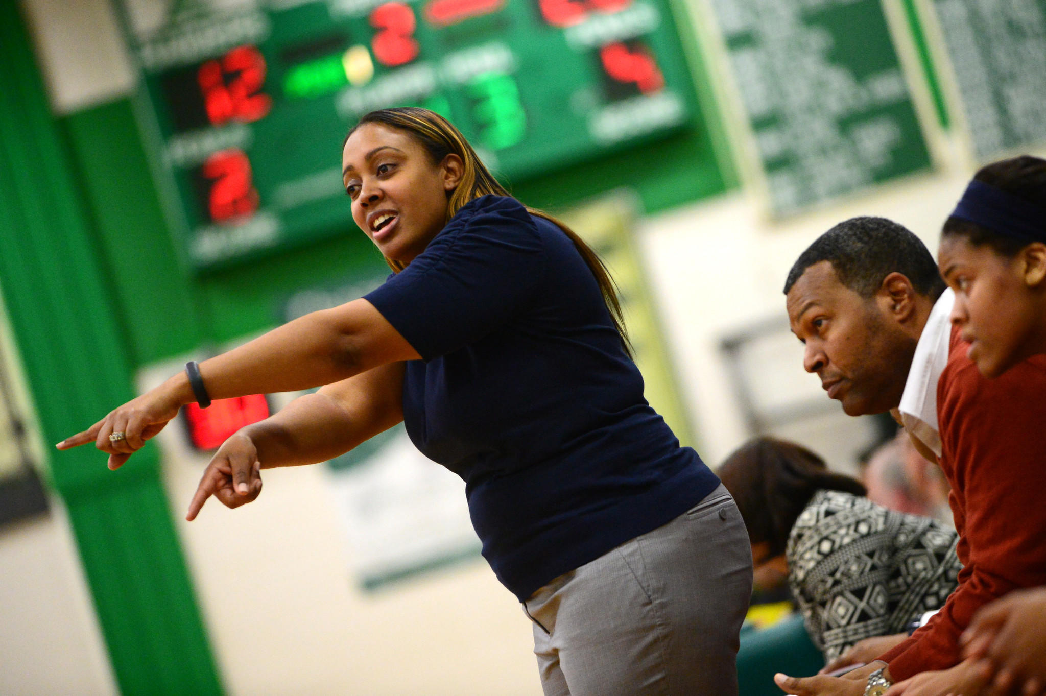 Poly girls basketball coach Kendall Peace-Able.