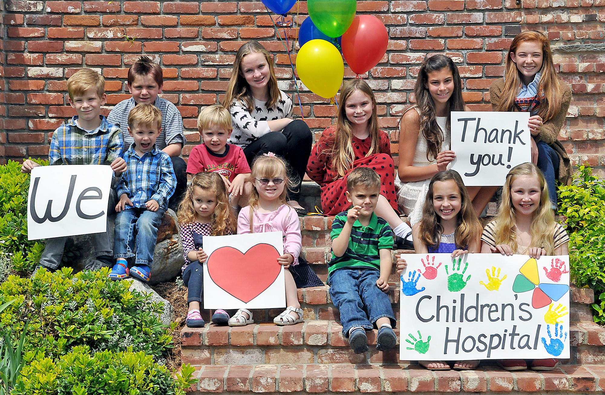 The Flintridge Guild of Children's Hospital is planning a benefit luncheon and boutique to be held May 9. Above are children and grandchildren of Guild members who have been treated at Children's Hospital Los Angeles. Top row, from left, Michael Angelica, Matthew Simone, C.J. Huston, Cassie Huston, Claire Kevorkian and Ellie Dick. Bottome row, from left, Dominic Angelica Grant Doller, Olivia Angelica, Becca Huston, Matthew Hanna, Lauren Gmelich and Sophia McLoughlin.