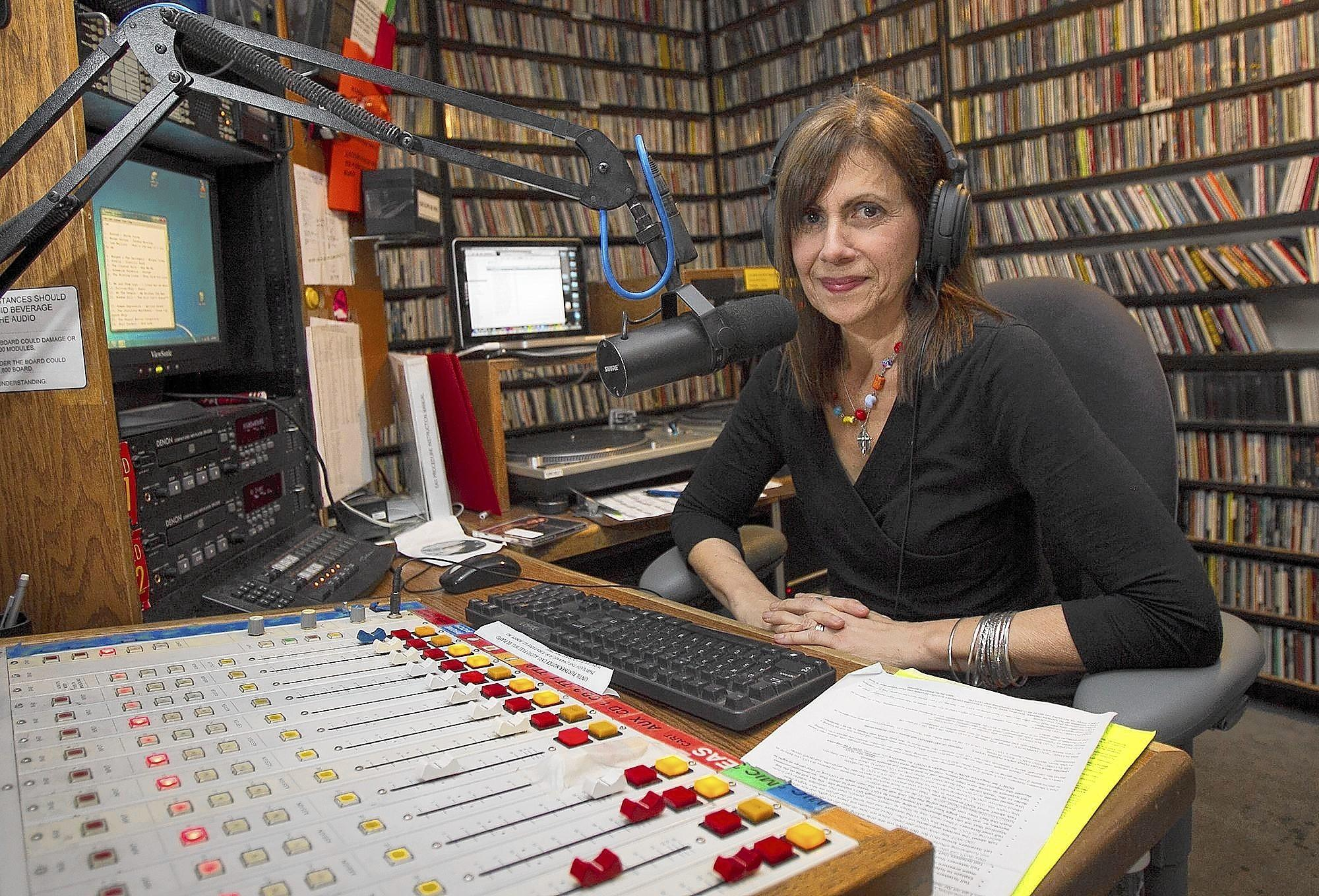"""Barbara DeMarco-Barrett is a public affairs host for the weekly radio show, """"Writers on Writing."""" The show is broadcast from the studios of KUCI-FM on the campus of UC Irvine."""