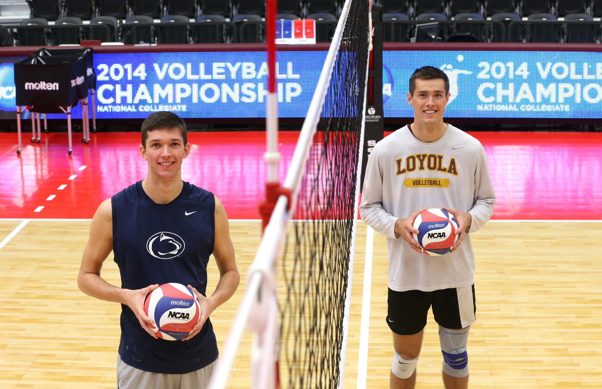 Penn State's Matt Callaway (left) and Loyola's Thomas Jaeschke.