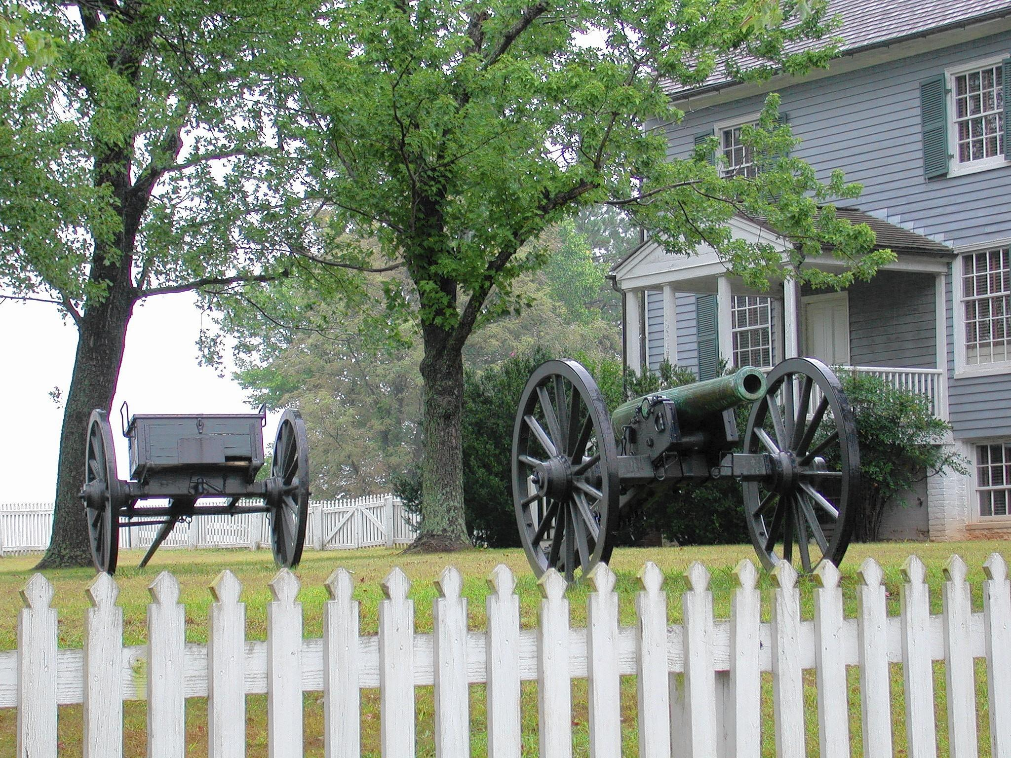 The last shots of the Civil War were fired in front of the home of George and Jenny Peers at Appomattox Court House. The cannon in their front yard was used in the final battles of the war.