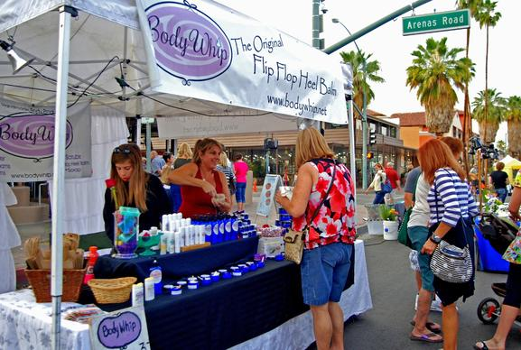 Palm Springs' VillageFest takes place every Thursday on Palm Canyon Drive between Baristo and Amado roads. Merchandise, food, music and more draw crowds to the festival-like atmosphere.