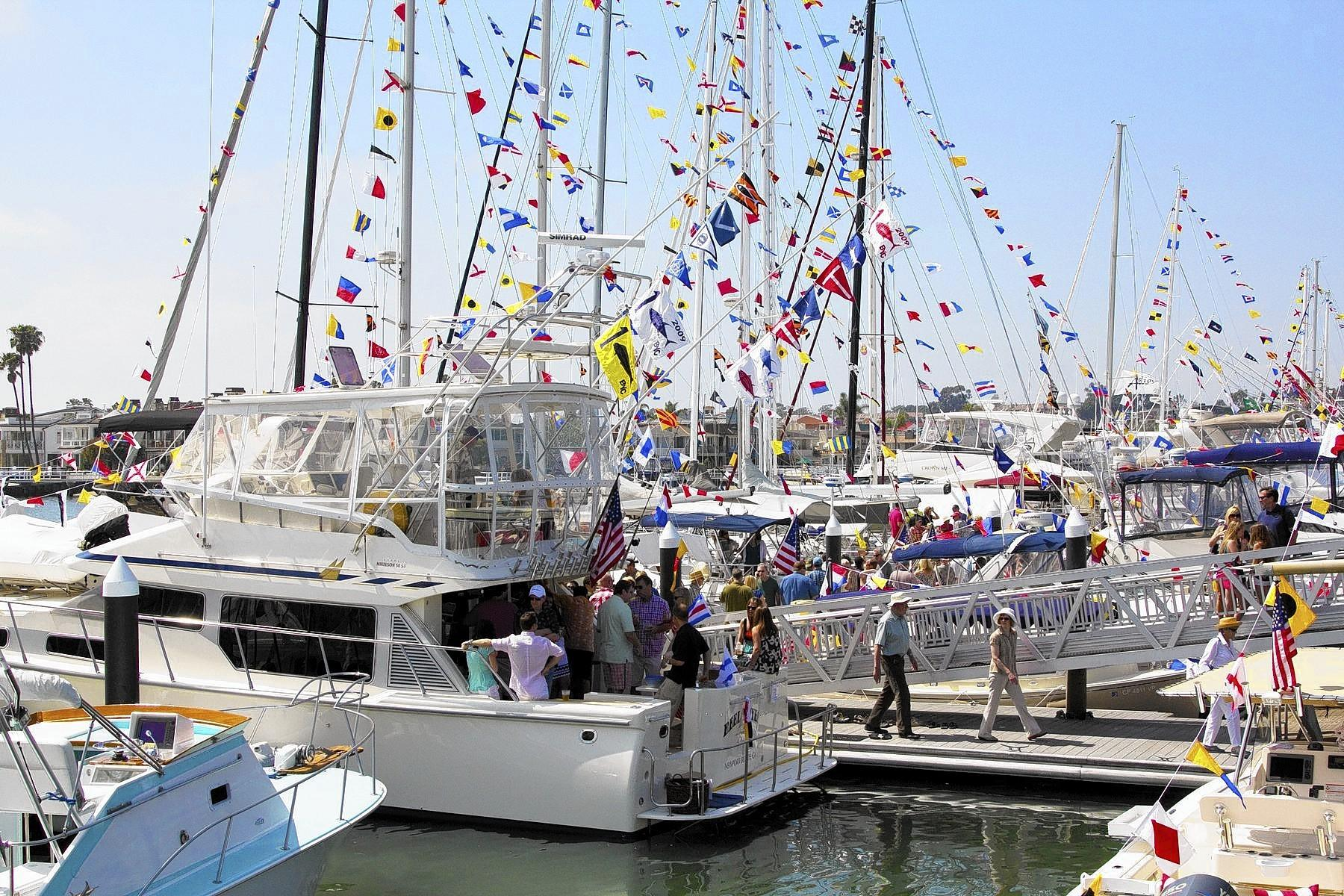 Opening day is a tradition for area yacht clubs like the Balboa Yacht Club, where many members put their boats on display for the ceremony each year.