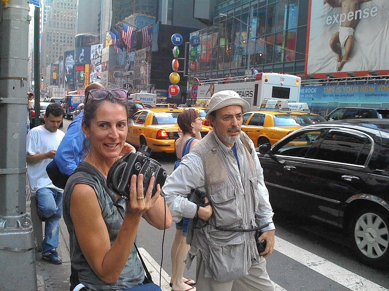"Cheryl Dunn, shooting a scene from her documentary, ""Everybody Street."""