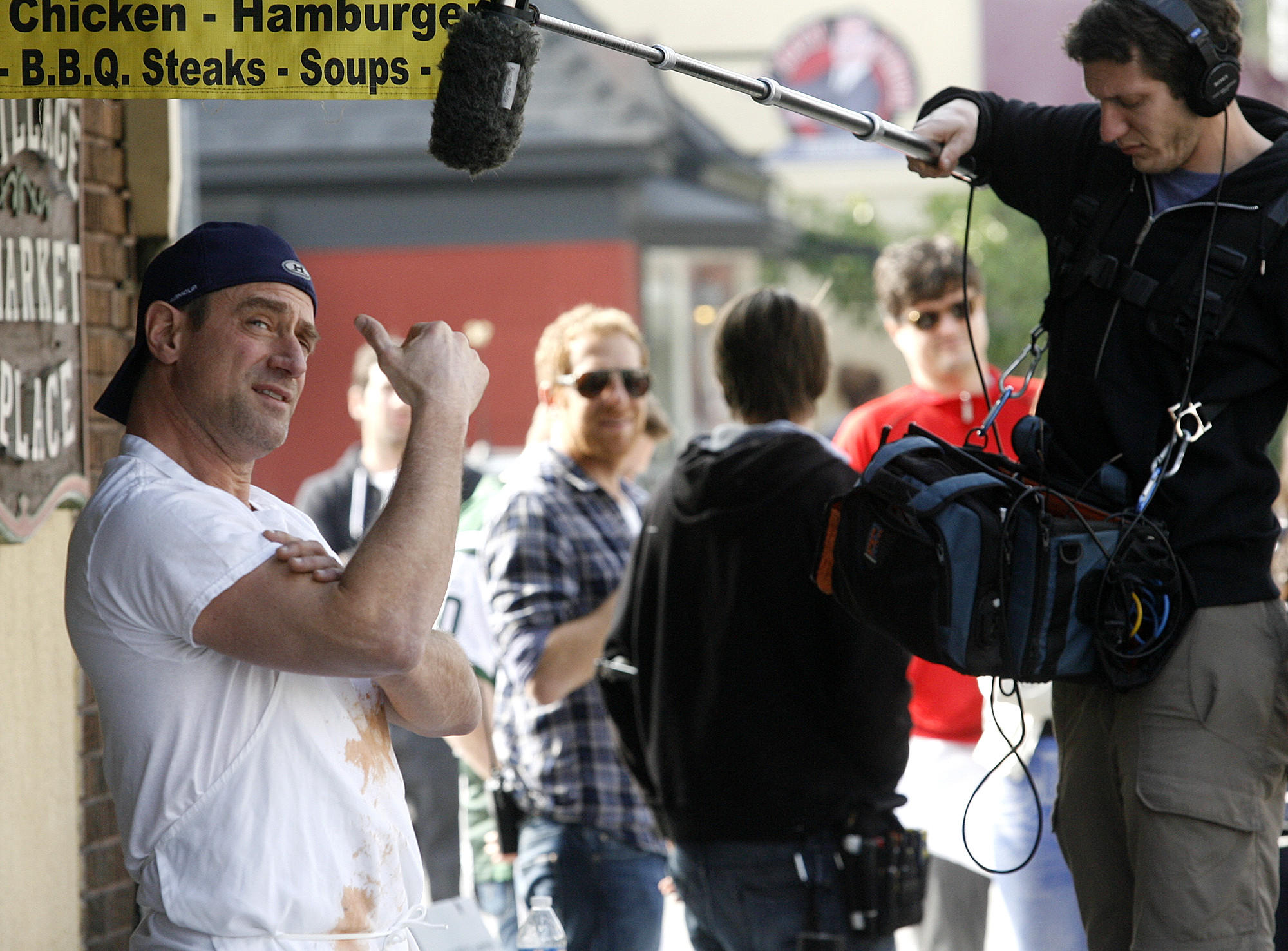 "A film crew, who said they were filming preliminary ideas for a new, yet to be proposed, television show with the working title ""Beef"" with Christopher Meloni film on location in the Kenneth Village area of Glendale on Thursday, February 6, 2013."