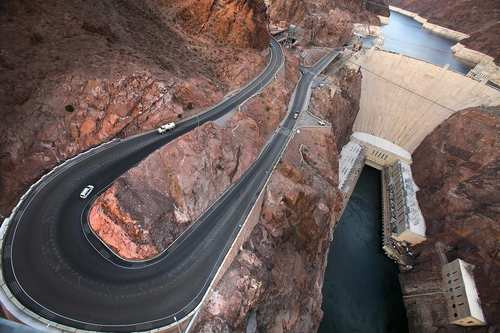 """The Mike O'Callaghan-Pat Tillman Memorial Bridge, as it's officially known, opened two years ago to ease traffic congestion at Hoover Dam. The bridge, about 35 miles south of Las Vegas, became an instant landmark for its breathtaking views of the dam and the Colorado River. Pull off U.S. 93, take a stroll over the span and snap a few pictures. <a href=""""http://www.hooverdambypass.org"""">http://www.hooverdambypass.org</a>"""