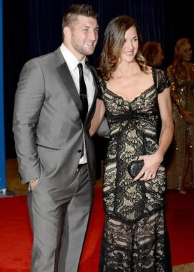 Tim Tebow attends the White House Correspondents' Dinner.