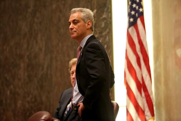 Mayor Rahm Emanuel presides over a Chicago City Council meeting April 30.