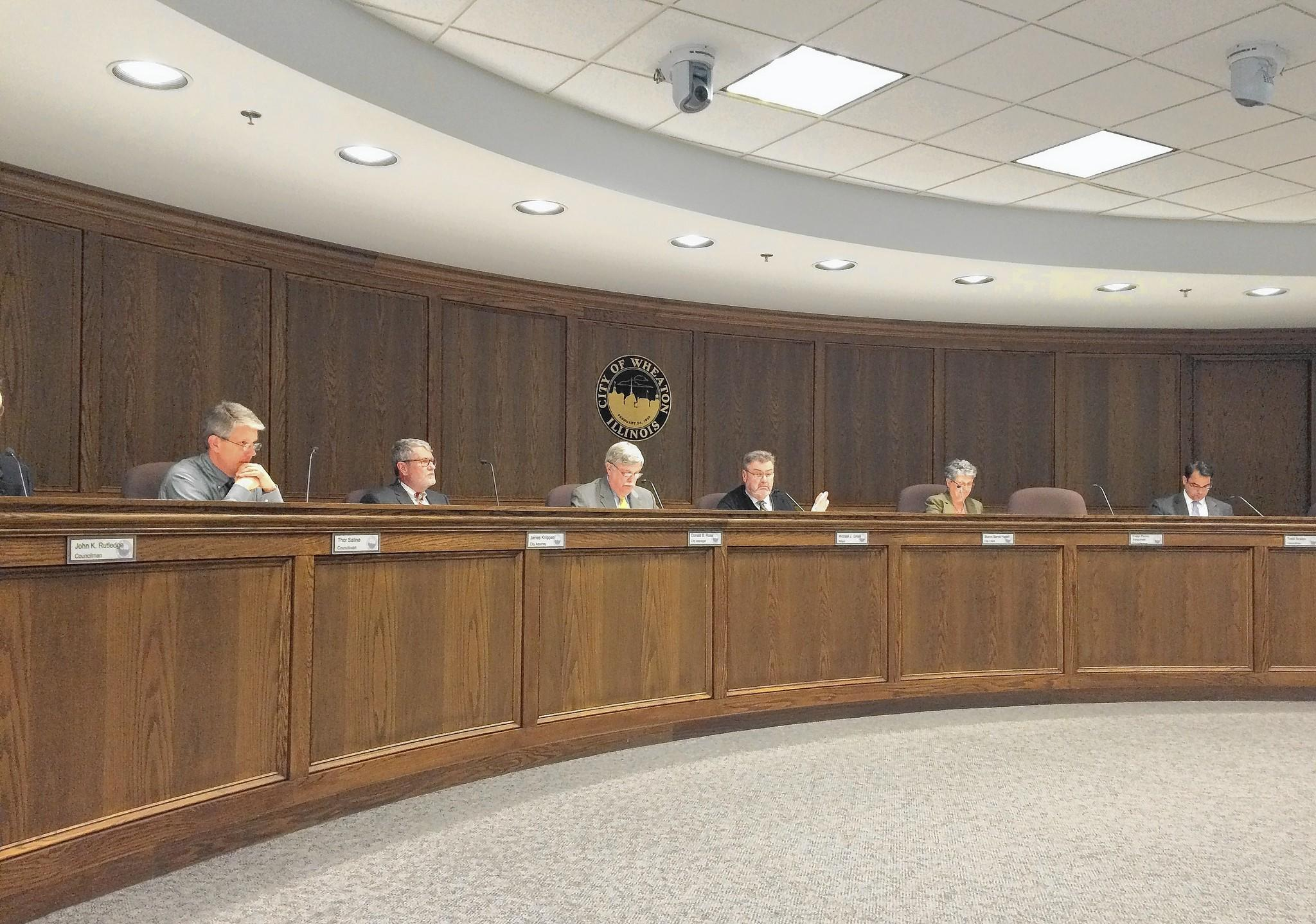 Wheaton council members voted to purchase salt through the county's joint purchasing program instead of the state's at a meeting on May 5.