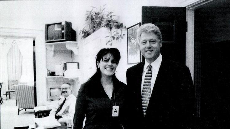 President Bill Clinton and Monica Lewinsky.