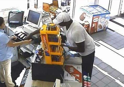 Pembroke Pines Police are searching for an armed man who robbed a Chevron gas station convenience store
