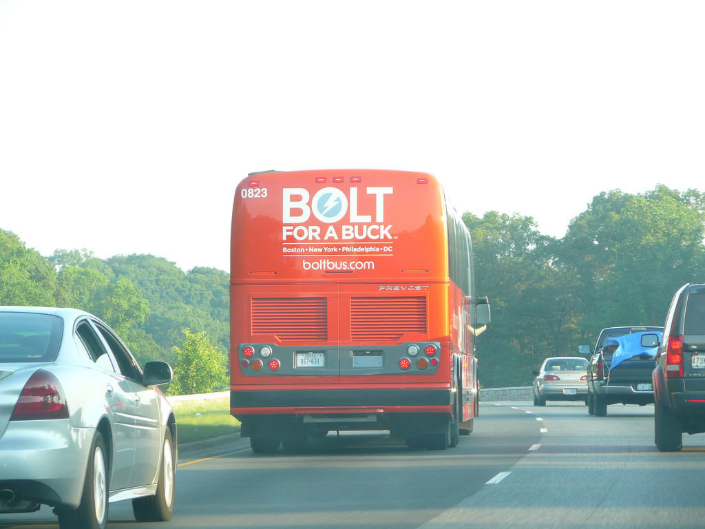 Bolt and other budget lines are a common site on the highways between Boston and New York.