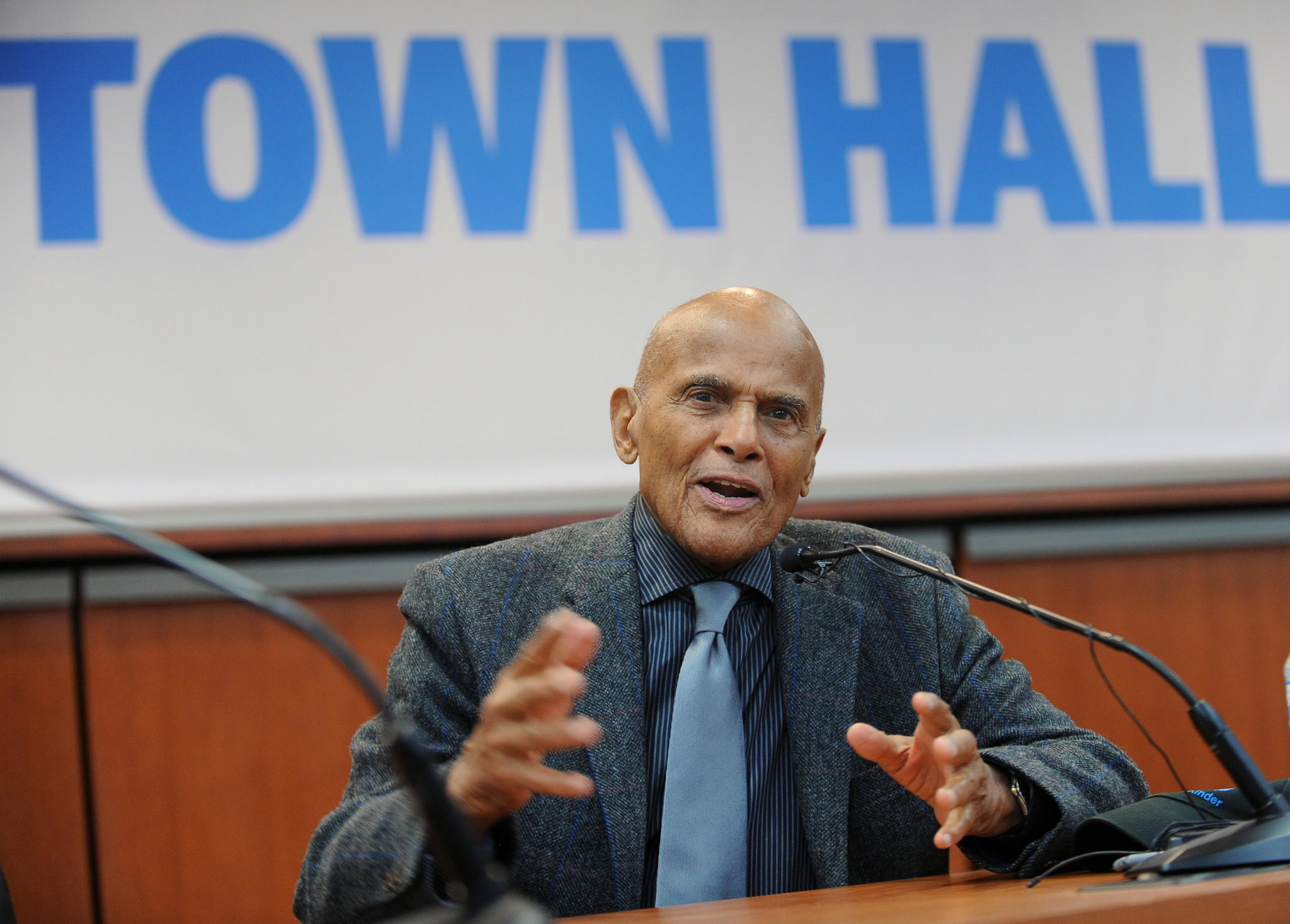 "Singer and social activist Harry Belafonte appeared for a talk on the Civil Rights movement of the 1960s as part of the University of Baltimore course ""Citizenship and Freedom: The Civil Rights Era."""