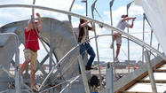 New water wheel joins fight against harbor trash