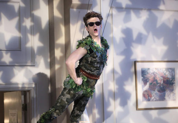 "Kurt (Chris Colfer) nabs the lead role in a retirement home production of ""Peter Pan."""