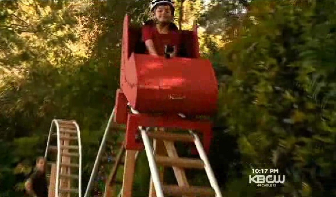 Roller Coaster In My Backyard :  couldnt say no, builds son a roller coaster in backyard  LA Times