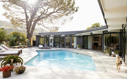 Alexandra Hedison re-designed the Hollywood Hills West home.