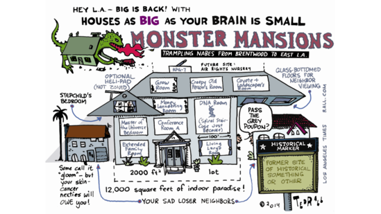 Monster mansions make a comeback
