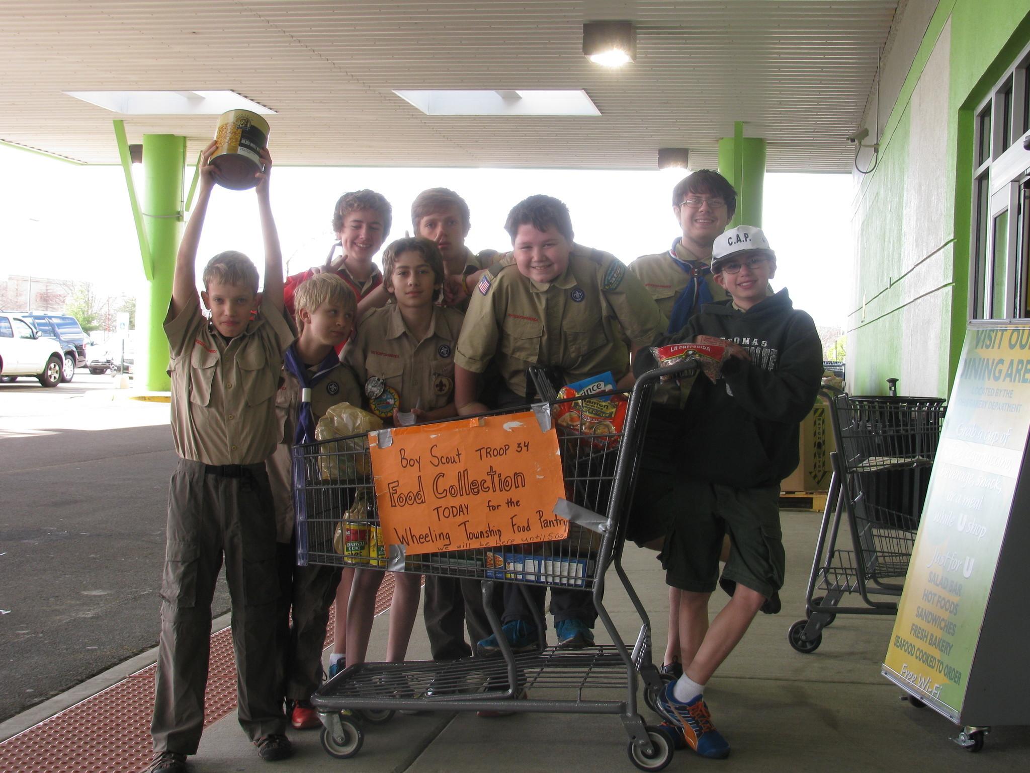 boy scout troop 34 food drive chicago tribune