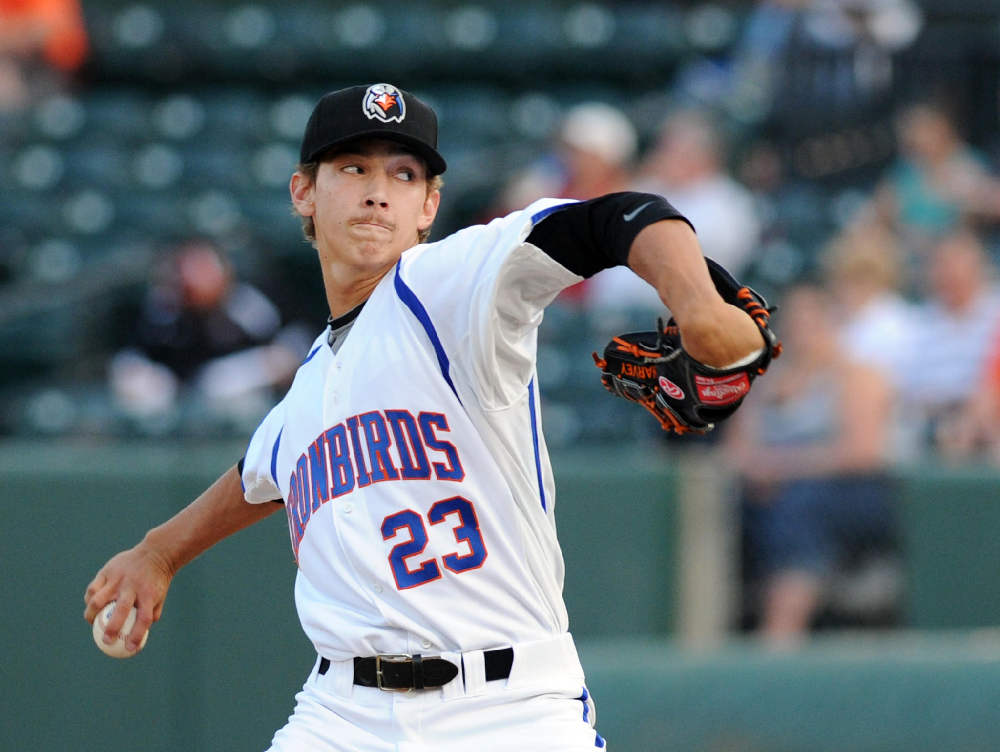 Orioles pitching prospect Hunter Harvey pitches with the Aberdeen Ironbirds in 2013.