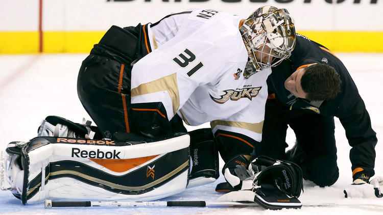 Ducks' Goalie Situation Once Again A Mystery