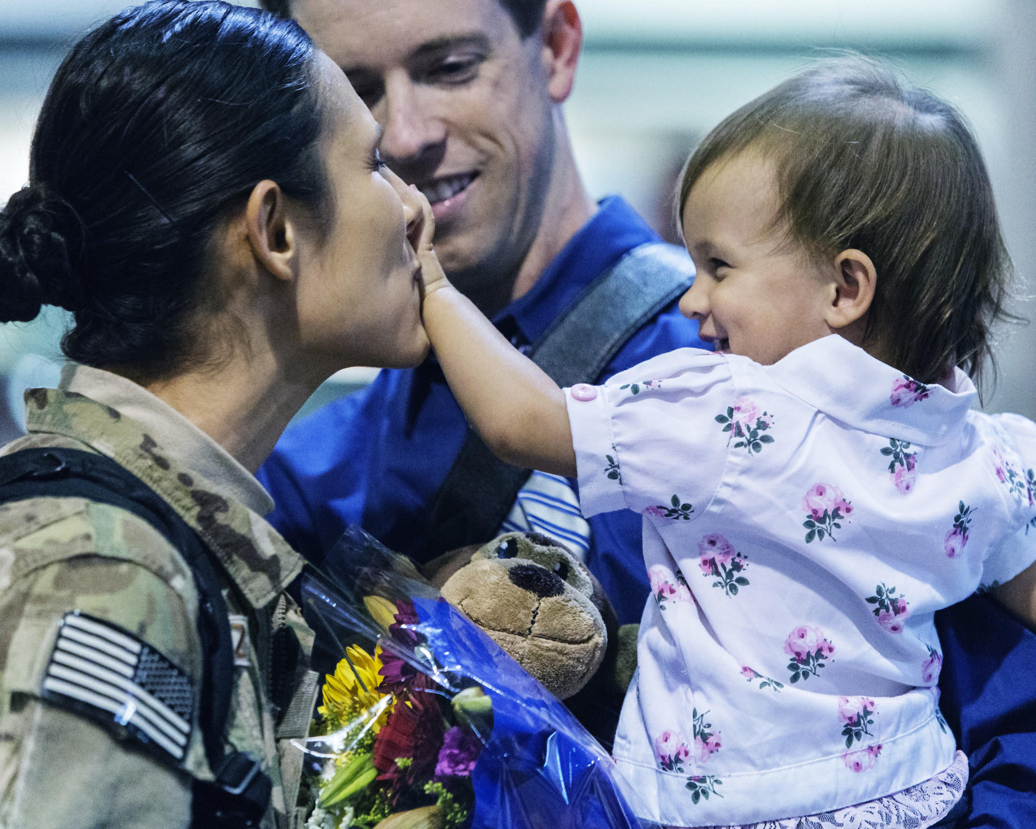 Captain Star Lopez returns home after deployment to Afghanistan.