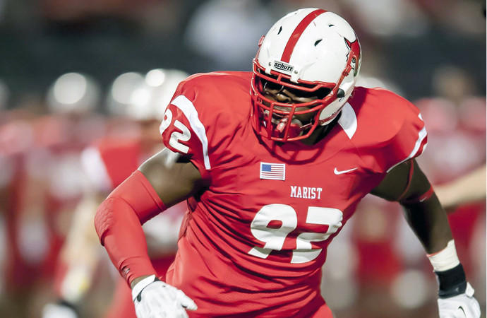 Fede is the first Marist player ever selected in the NFL draft ... Versatile player that can play defensive end or defensive tackle ... Has good size, speed and athletic ability for a player with 6-foot-4, 278-pound frame ... Conducted workouts for the Miami Dolphins, New York Giants, New York Jets and Cincinnati Bengals ... Has good power, acceleration and runs to the ball well.