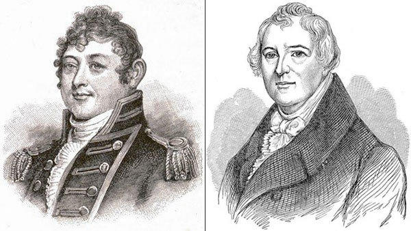 Isaac Hull, left, and William Hull.