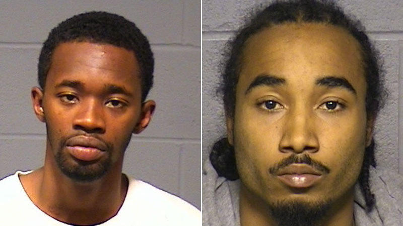Gary Pierce, left, was charged with carrying a pistol without a permit, criminal possession of a firearm, third-degree burglary and interfering with police. Andre Rodriguez was charged with interfering with police.