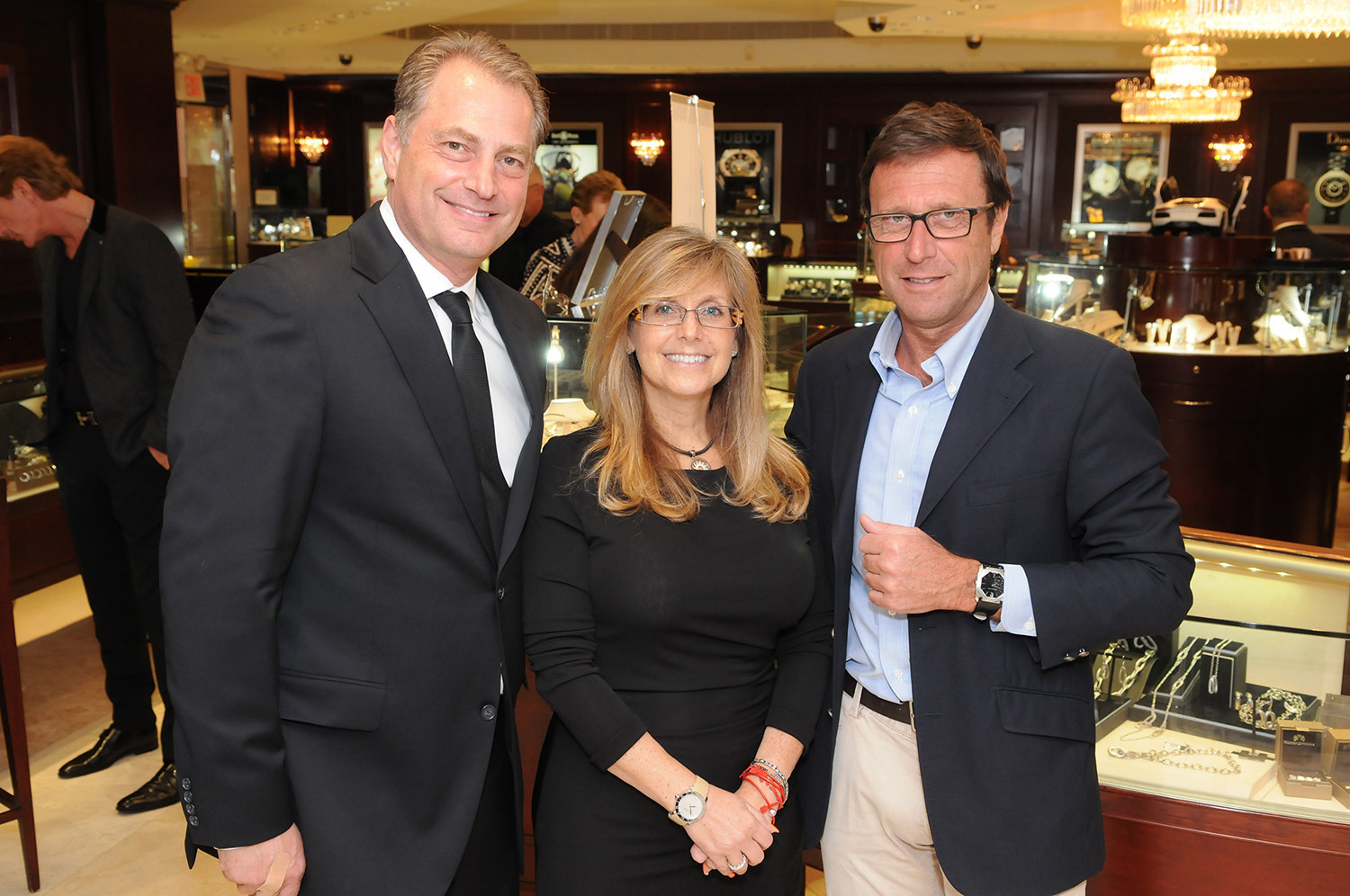 Society Scene photos - Ed Dikes & Tracey Dikes, Co-Owners of Weston Jewelers with Alberto Festa, President of Bulgari