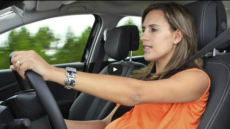 Pregnant and behind the wheel