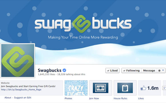 screen shot of Swagbucks' Facebook page. ( Swagbucks )