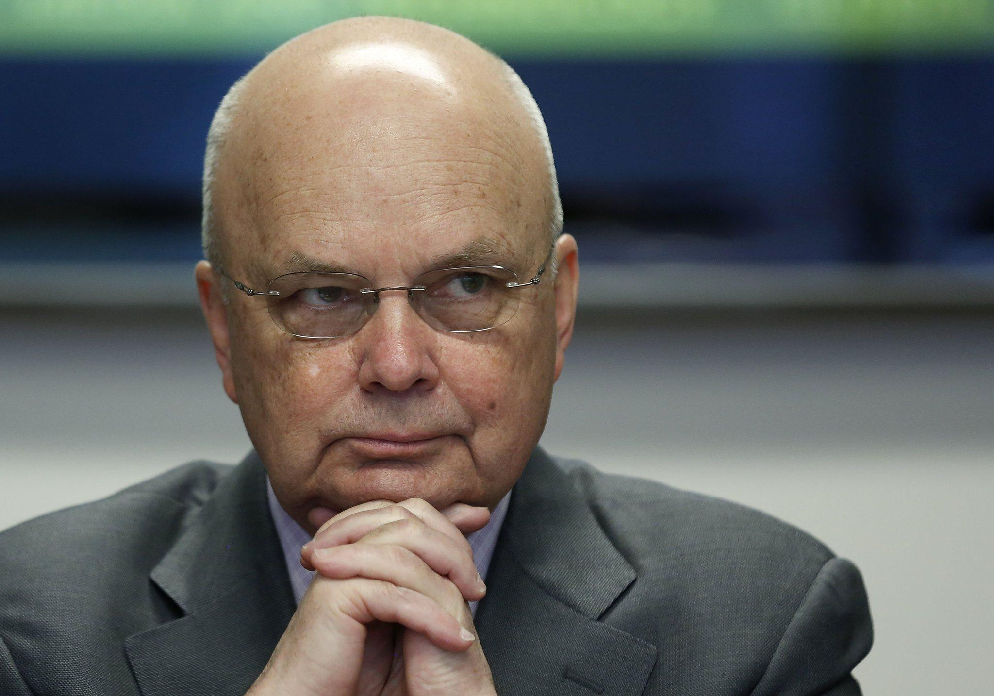 Former National Security Agency (NSA) and Central Intelligence Agency (CIA) Director Michael Hayden listens during a Reuters CyberSecurity Summit in Washington.