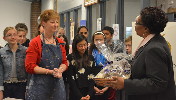 Hawthorn Middle School South Teacher Awarded Golden Apple for Excellence in Teaching