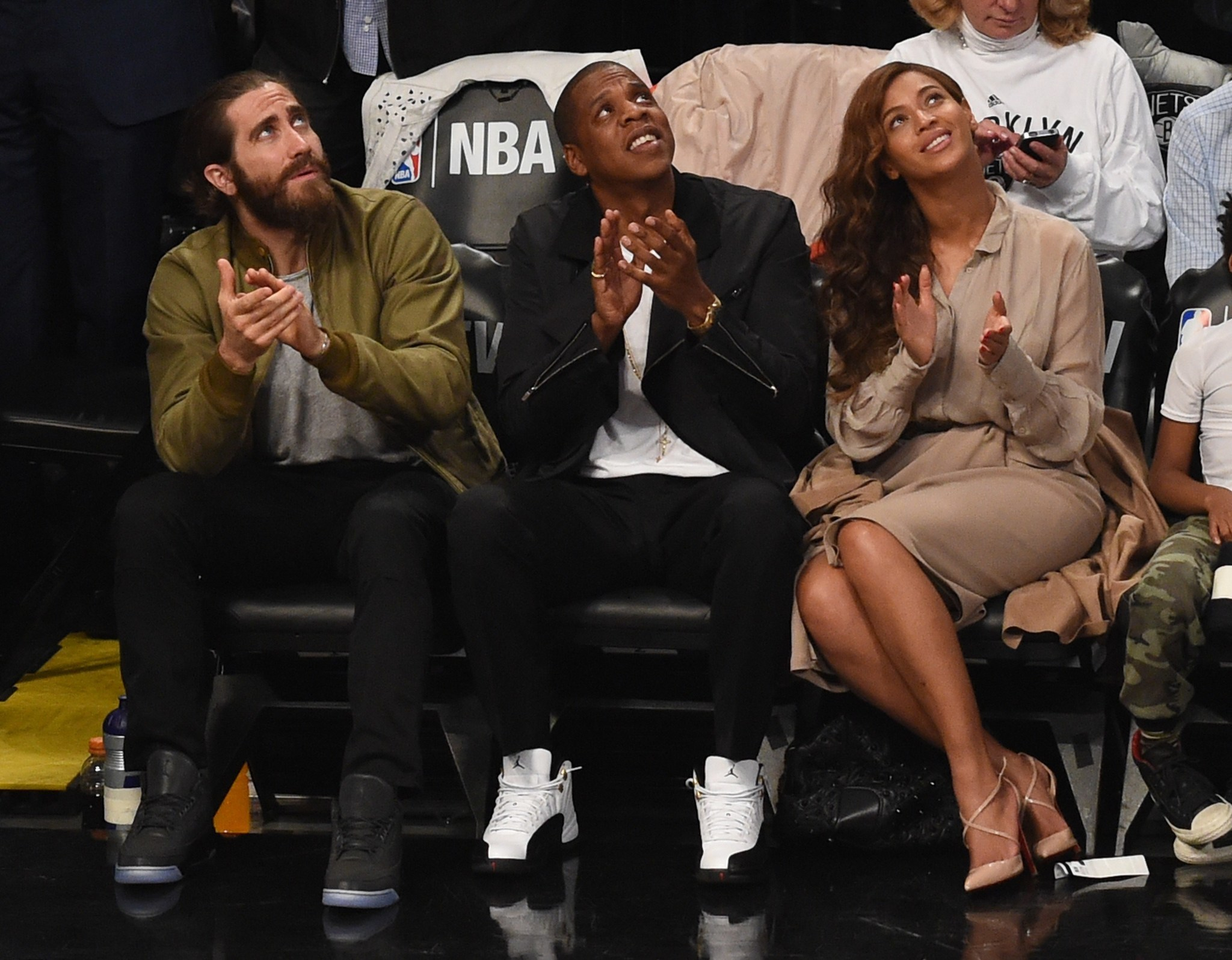 Celebs spotted at Miami Heat games - Jake Gyllenhaa, Jay Z and Beyonce
