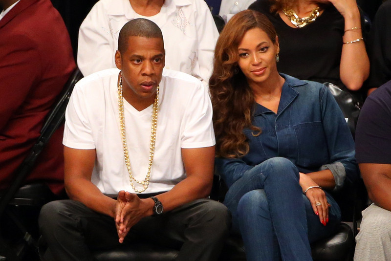 Celebs spotted at Miami Heat games - Jay Z and Beyonce