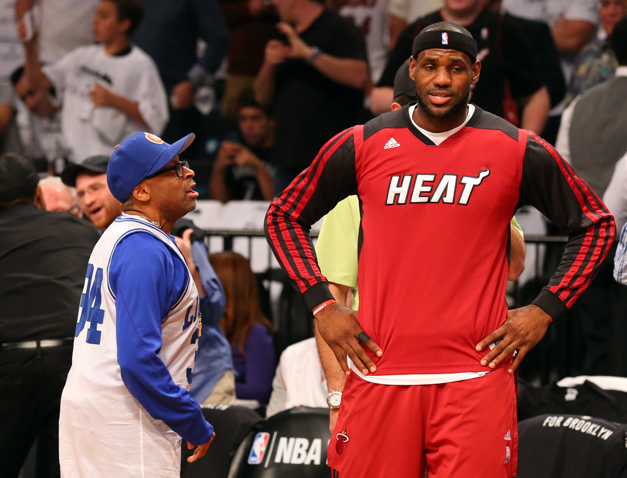 Celebs spotted at Miami Heat games - Spike Lee