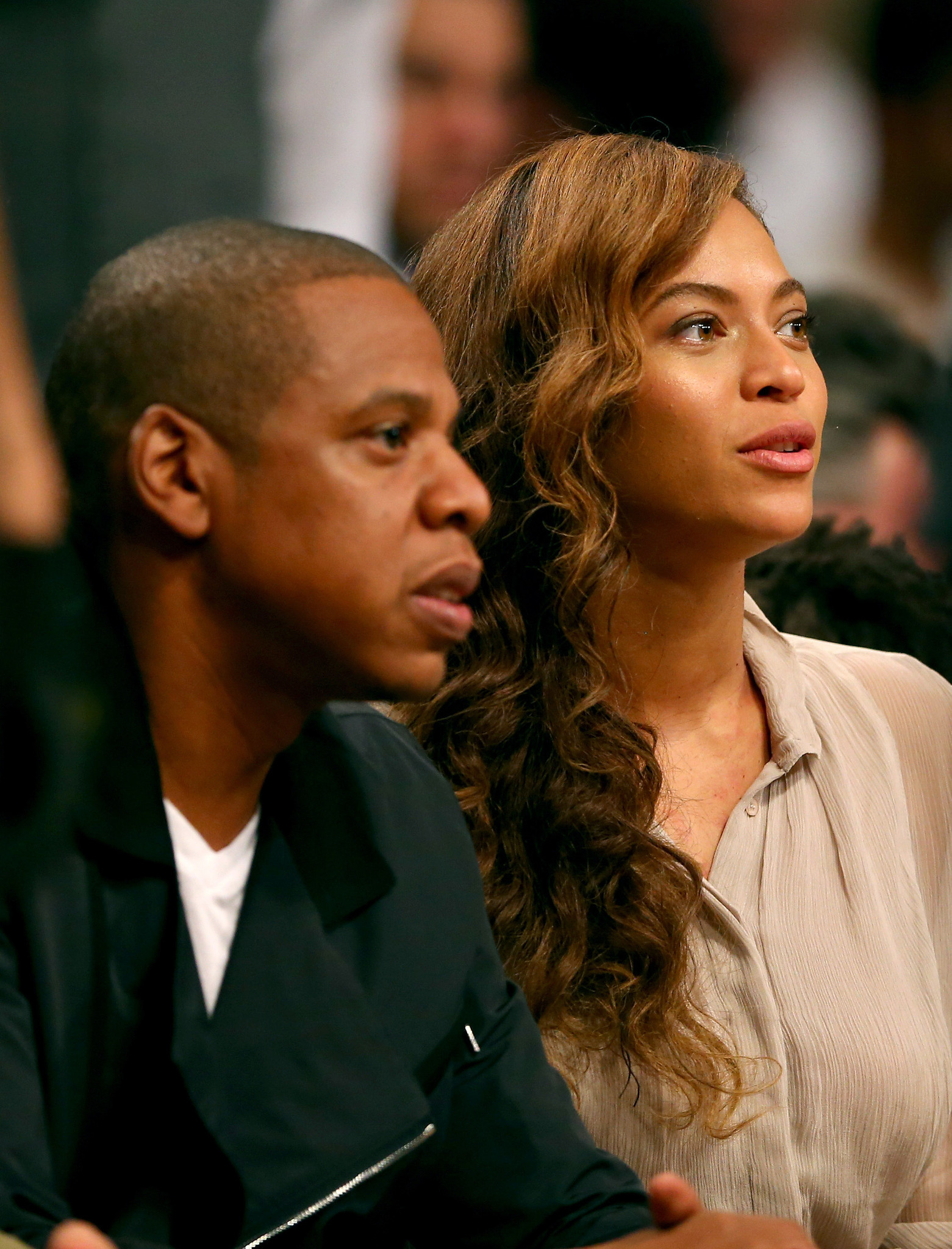 Celebs spotted at Miami Heat games - Beyonce and Jay-Z