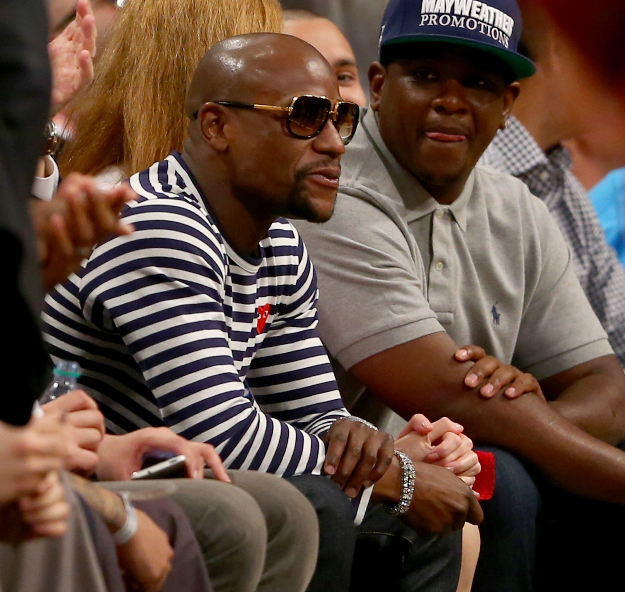 Celebs spotted at Miami Heat games - Floyd Mayweather Jr