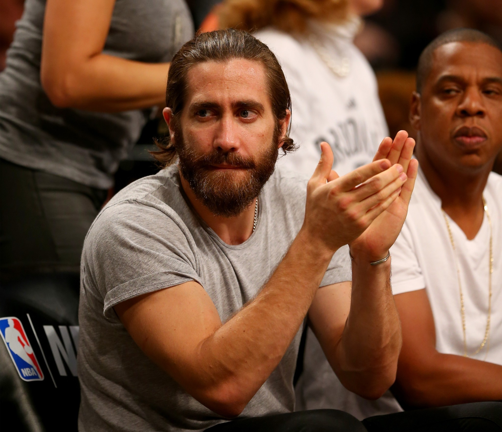 Celebs spotted at Miami Heat games - Jake Gyllenhall and Jay-Z