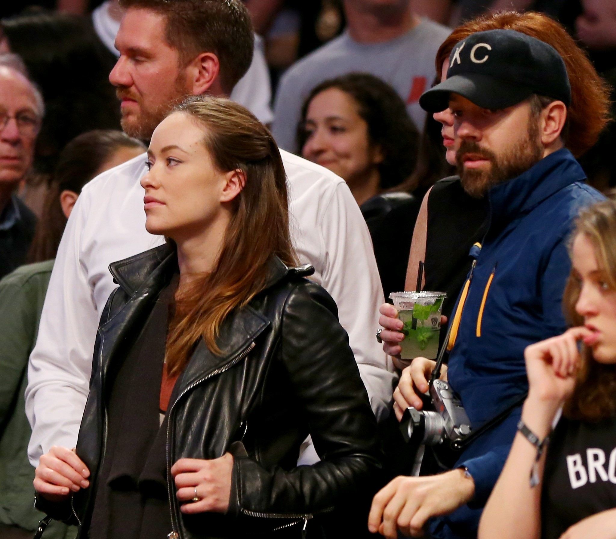 Celebs spotted at Miami Heat games - Olivia Wilde and Jason Sudekis