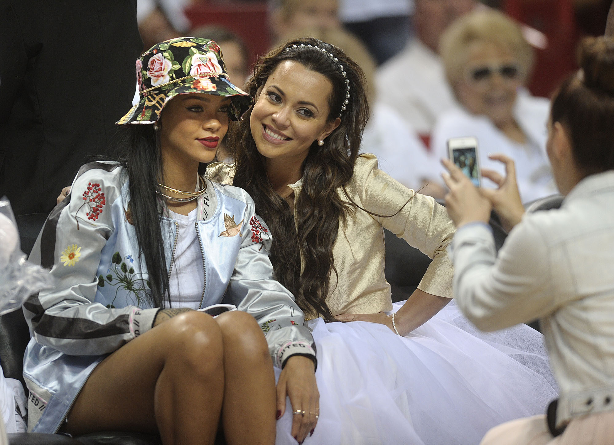 Celebs spotted at Miami Heat games - Rihanna