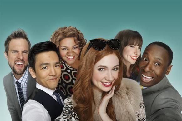 Tim Peper (from left), John Cho, Da'vine Joy Randolph, Karen Gillan, Allyn Rachel, David Harewood
